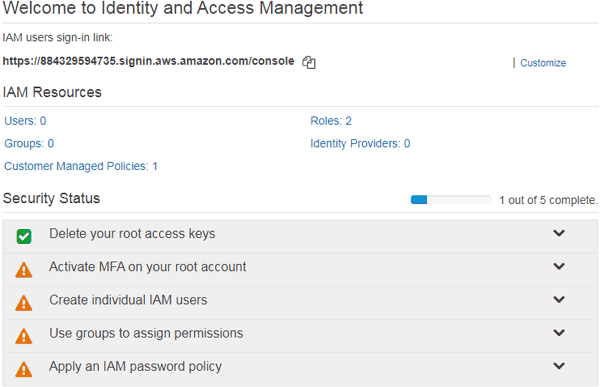 Access Management for Connecting AWS IoT with ESP8266