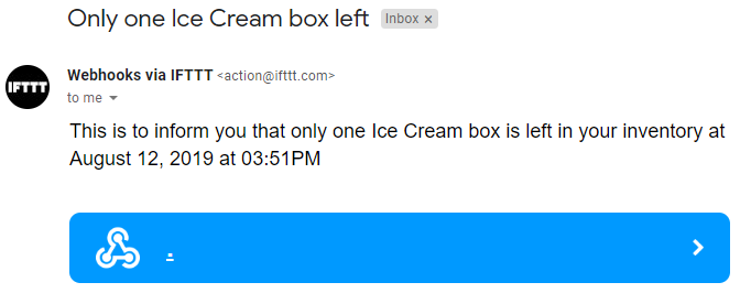 Applet of Icecream box for IoT Inventory Management System