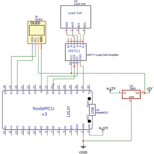Automatic Inventory Management System Circuit Diagram