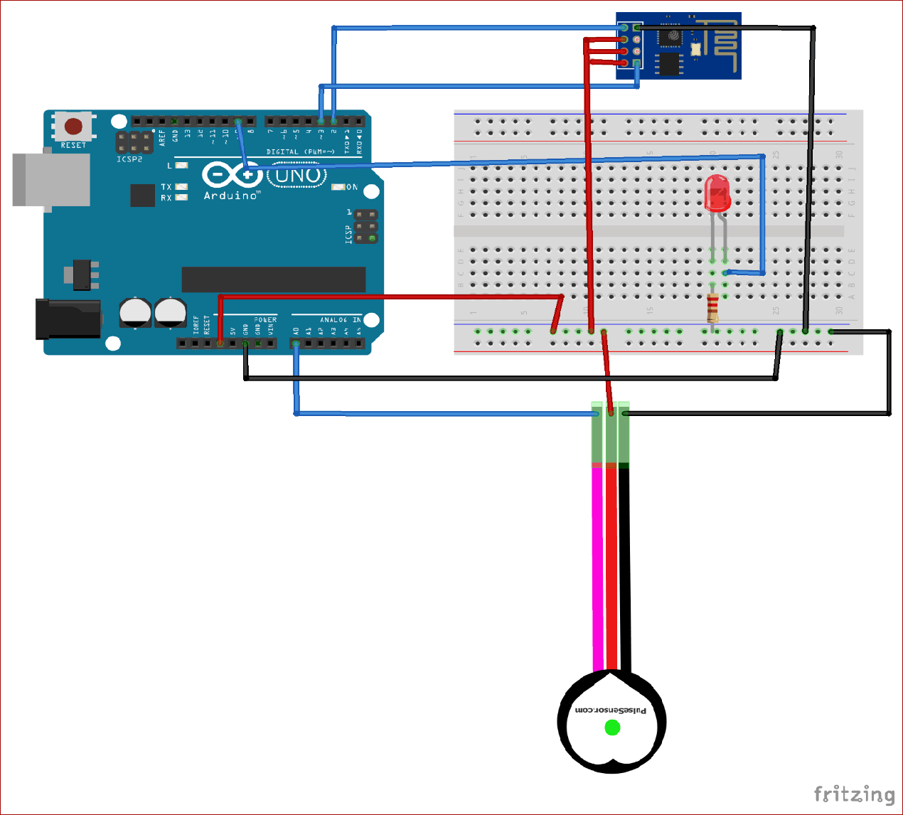 IoT Based Heart Rate Monitor using Arduino and ESP8266