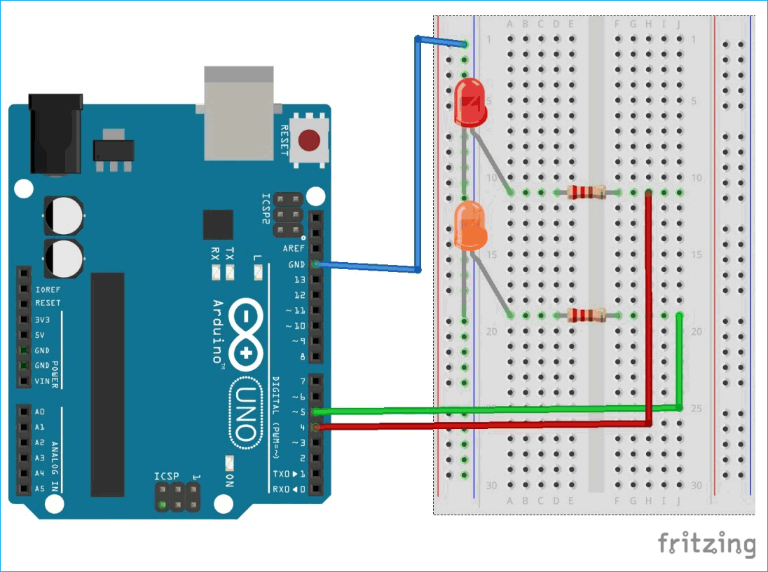 Circuit Diagram for Controlling Arduino remotely over the Internet using Blynk App