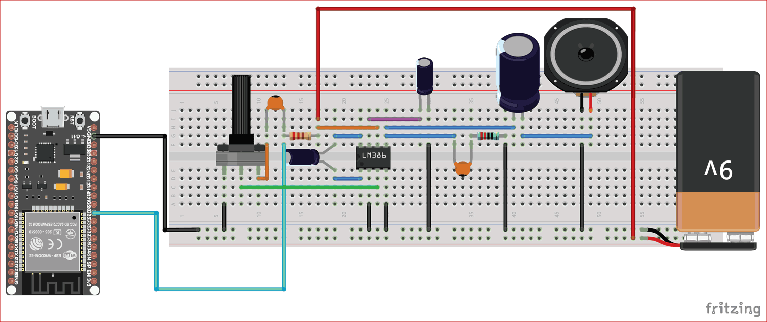 ESP32 Text To Speech Converter Project Circuit Diagram