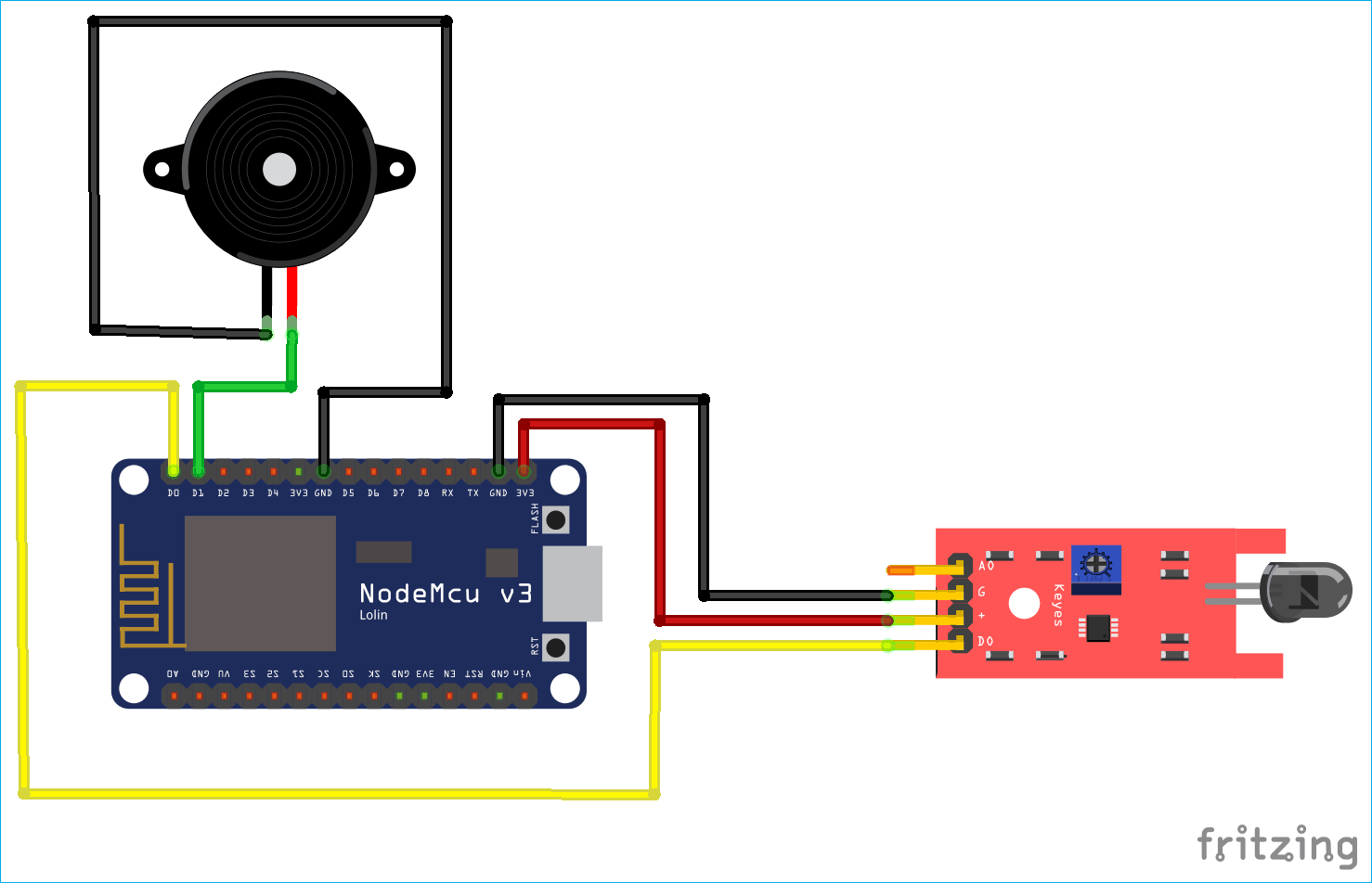 IoT based Fire Alarm System Project using NodeMCU ESP8266