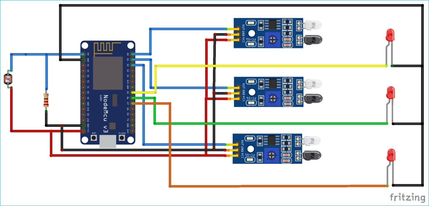 IoT Based Smart Street Light Project using NodeMCU ESP8266 and