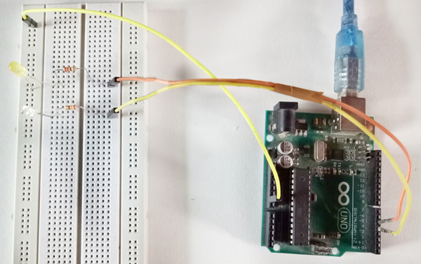 Circuit Hardware for Controlling Arduino remotely over the Internet using Blynk App