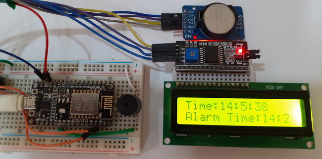 Circuit Hardware for IoT Alarm Clock Using NodeMCU based Captive Portal