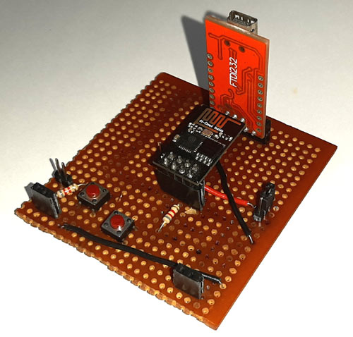 Circuit Hardware for IoT based Panic Button using ESP8266-01