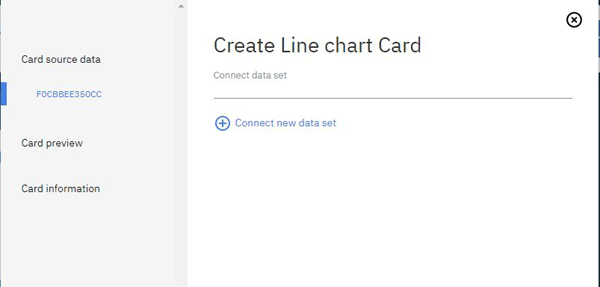 Create Line Chart Card for IBM Watson