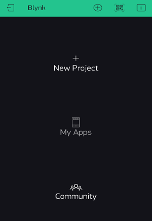 Create New Project on Blynk App