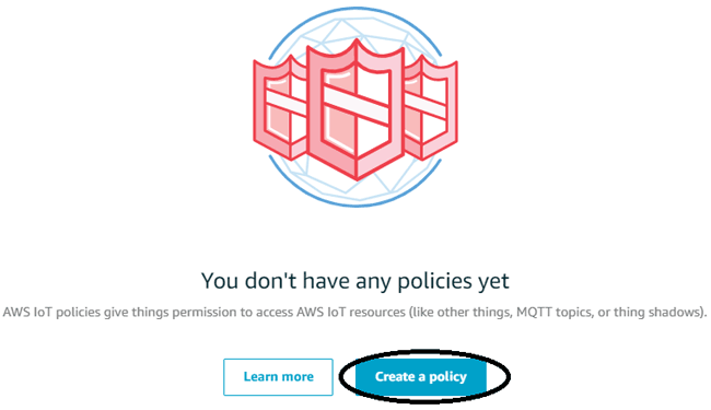 Create a Policy on Amazon AWS IoT