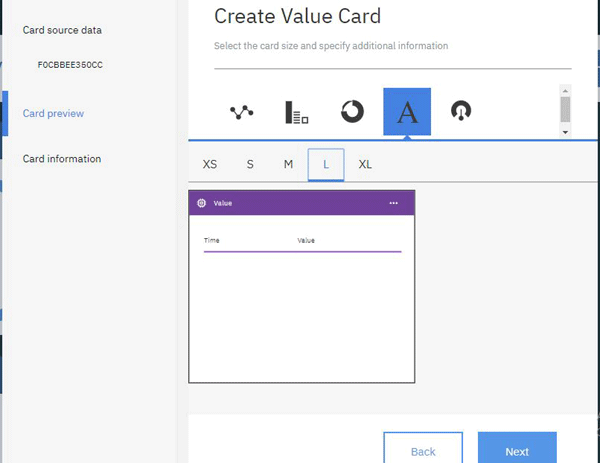 Created Value Card for IBM Watson