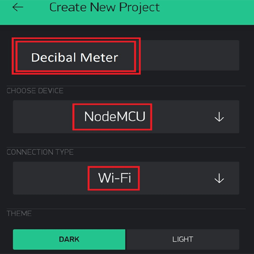 Decibel Meter Using Blynk