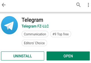 Download Telegram from Play Store