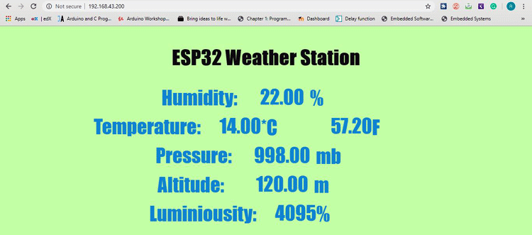 ESP32 Weather Station