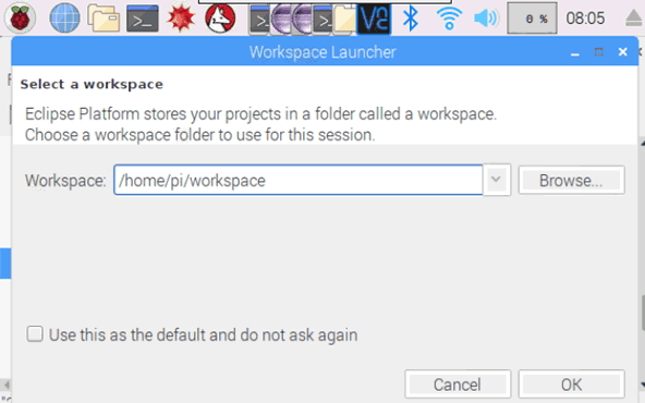 Eclipse Workspace Stored in Raspberry Pi