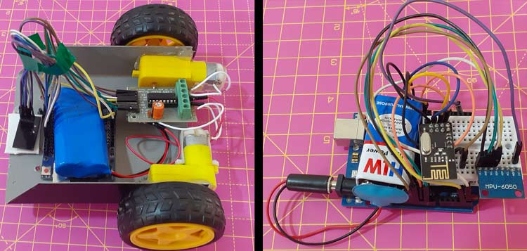 DIY Gesture Controlled Robot using Arduino