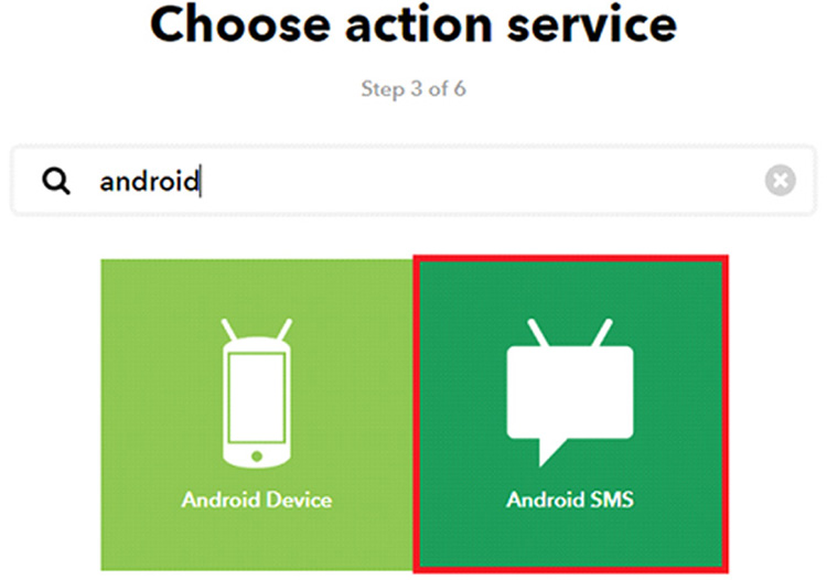 IFTTT Android Action
