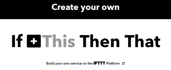 IFTTT Setup for IoT Inventory Management System
