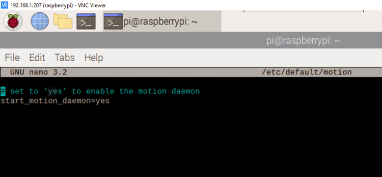 Installing 'Motion' in Raspberry Pi
