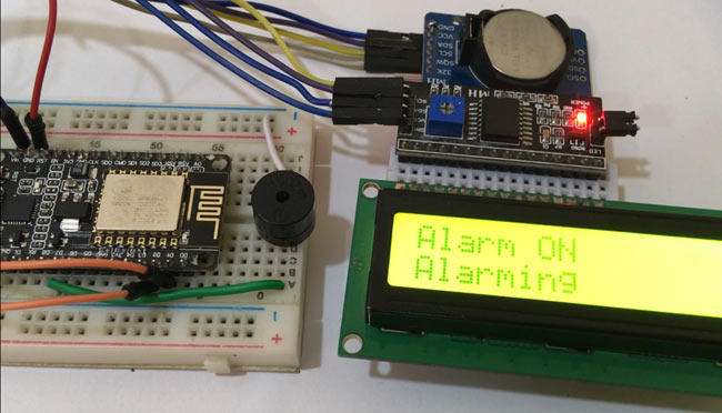 IoT Alarm Clock Using NodeMCU based Captive Portal in action