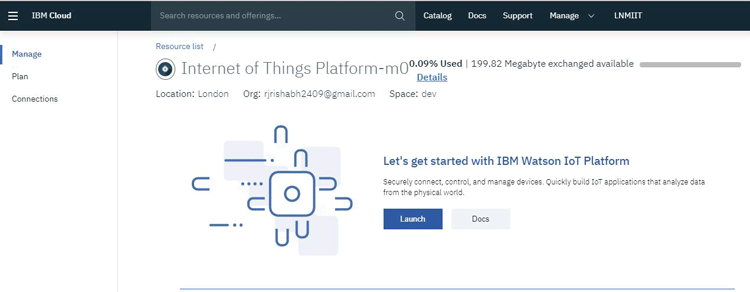 Launch IoT Resources with IBM Watson