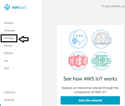 Manage AWS Account for IoT Project