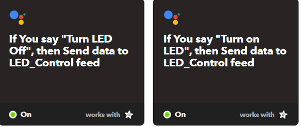 Set Trigger Command through IFTTT for IOT controlled LED using ESP32
