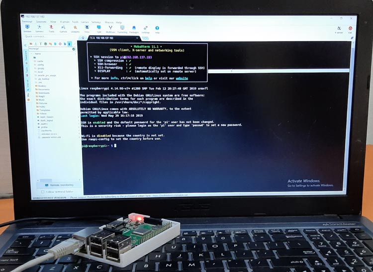 Setting up Raspberry Pi for Headless Start without a Monitor