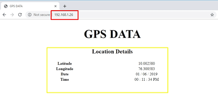 Showing Latitude and Longitude on a Webpage