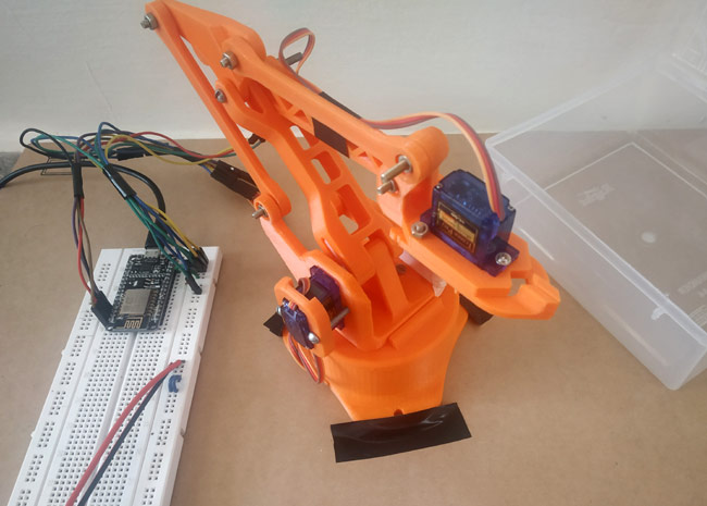 Testing IoT based Robotic Arm Project