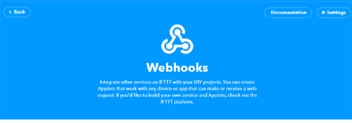 Webhooks Web Page for Documentation