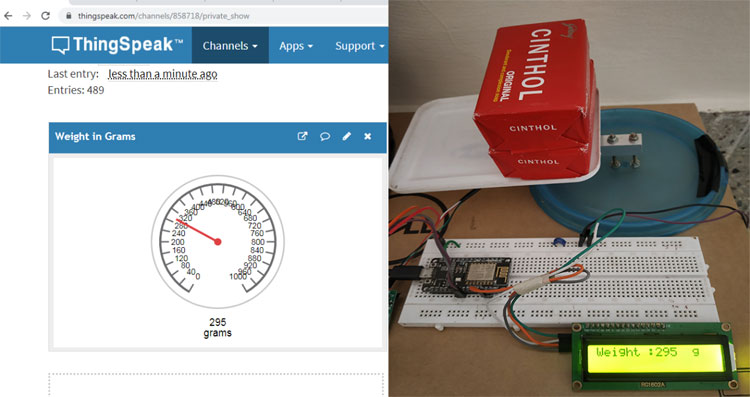 Working of Smart Weighing Machine for remote weight Measurement and Monitoring