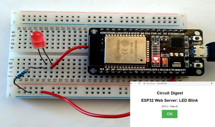 ESP32 Web Server Project & Code to Control an LED from Webpage