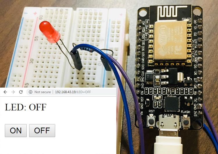 ESP8266 based Webserver to Control LED from Webpage
