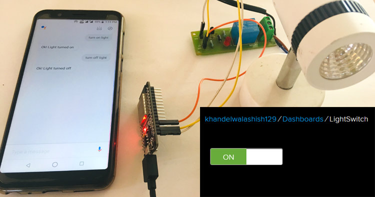 Google Assistant Based Home Appliance Control using ESP32