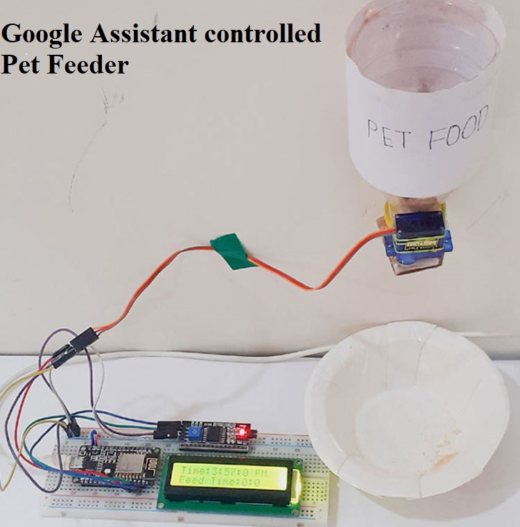 Google Assistant controlled IoT Pet Feeder