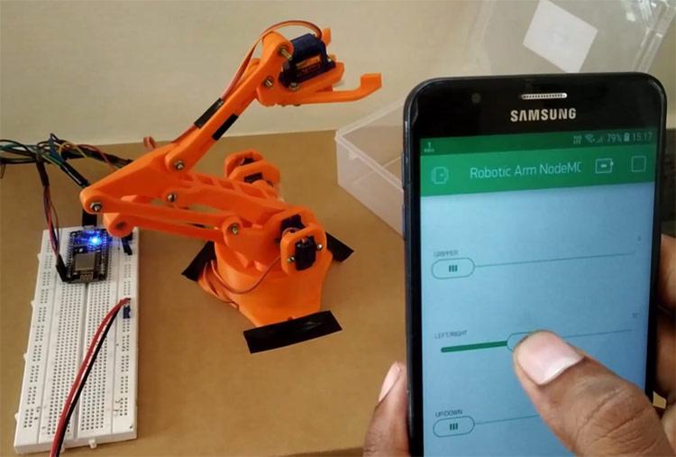 IOT based Robotic Arm using NodeMCU