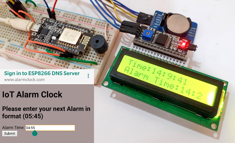 IoT Alarm Clock Using NodeMCU based Captive Portal