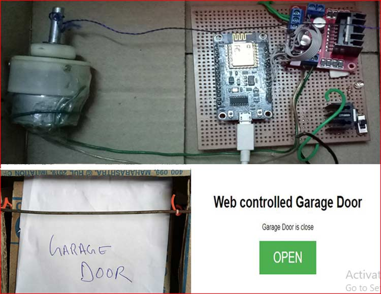 IoT Wi-Fi Garage Door Opener using NodeMCU ESP12E