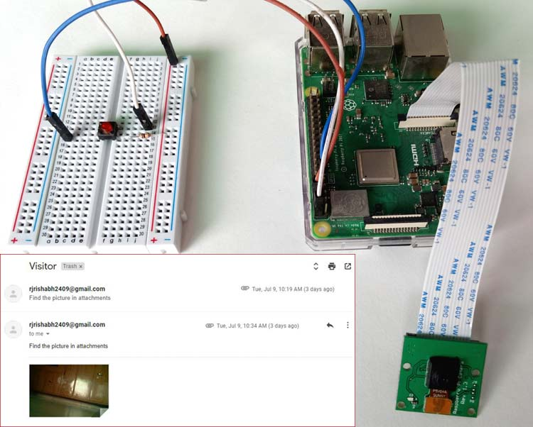 Raspberry Pi based Smart Wi-Fi Surveillance Doorbell with