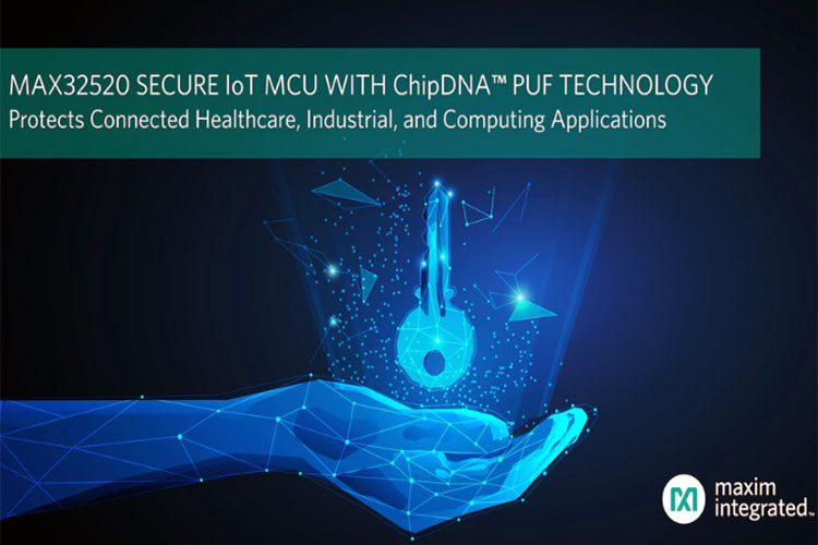 MAX32520 ChipDNATM secure Arm Cortex-M4 microcontroller