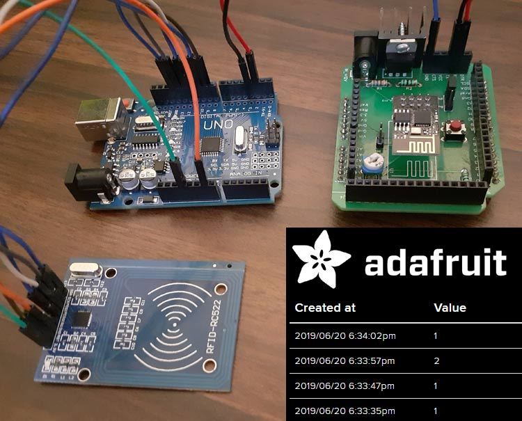 RFID Based Attendance System using Arduino and Adafruit IO
