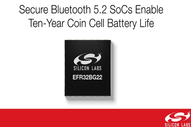 Optimized Single Chip Bluetooth 5.2 SoC Enables Ten-Years Coin Cell Battery Operation