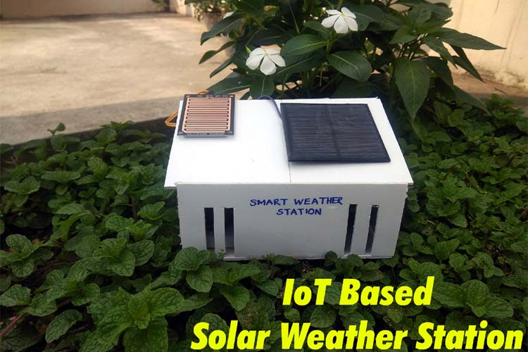 Solar Powered Wi-Fi Weather Station using NodeMCU and ThingSpeak