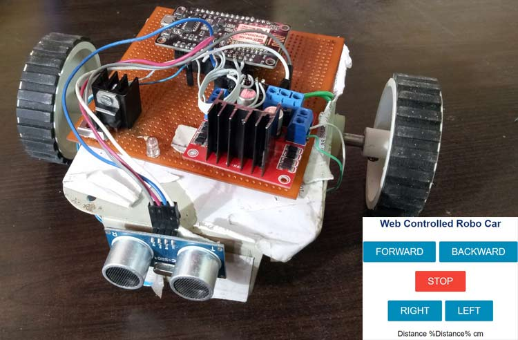 Wi-Fi controlled Robot using NodeMCU