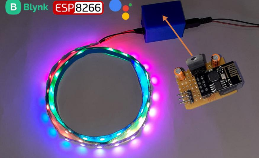 IoT based Voice Controlled Neopixel LED