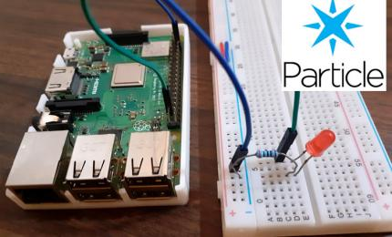 Controlling LED using Particle IO Cloud Console and Raspberry Pi