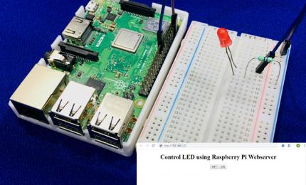 Controlling an LED with Raspberry Pi Webserver using Apache
