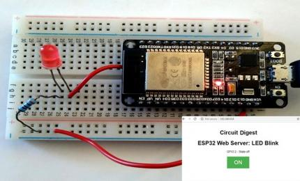 ESP32 Web Server: Control an LED from Webpage
