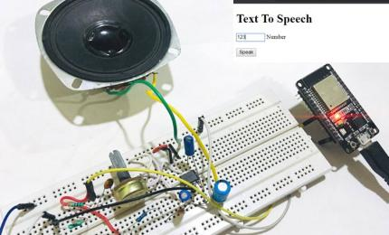 ESP32 based Webserver for Text to Speech (TTS) Conversion